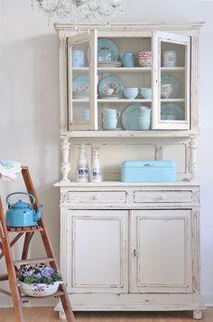 Küchenschrank weiß ikea  vintage altes Buffet Küchenschrank Anrichte antik | Shabby ...