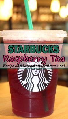 Starbucks Tea, Starbucks Secret Menu Drinks, Starbucks Hacks, Raspberry Iced Tea, Raspberry Syrup, Iced Tea Recipes, Coffee Recipes, Drink Recipes, Homemade Iced Tea