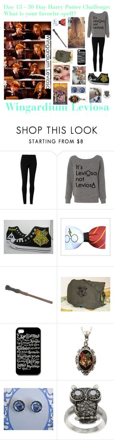 """Day 13 - 30 Day Harry Potter Challenge"" by ravenclawpride1019 ❤ liked on Polyvore featuring moda, Max Studio, Converse, Alkemie ve City Style"
