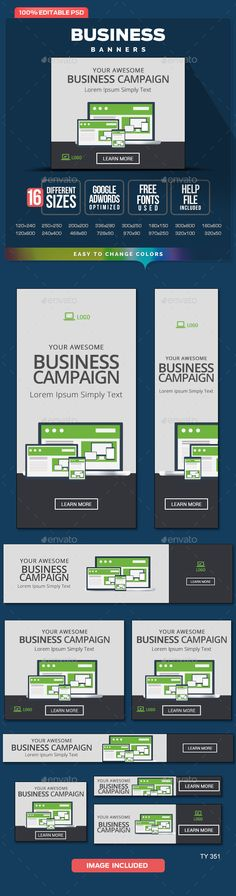 Business Banners - Banners & Ads Web Template PSD. Download here: http://graphicriver.net/item/business-banners/10667294?s_rank=1783&ref=yinkira