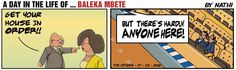 Zuma tells Mbete to do some housekeeping, but she wants to know why in Nathi's strip