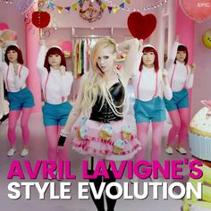 Avril Lavigne's style has changed SO much over the years.