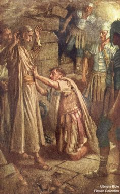 Acts 16 Bible Pictures: Phillipian jailer and Paul