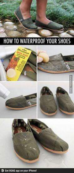 Waterproof your stuff.