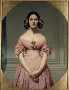 Portrait d'Isaure Chassériau, nièce de l'artiste, fille de Théodore, Amaury Duval, 1838.