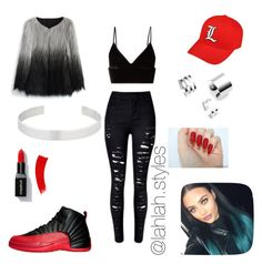 """""""Untitled #25"""" by lahlah-styles on Polyvore featuring NIKE, T By Alexander Wang, Chicwish and Jennifer Fisher"""