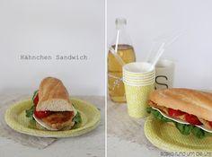Hähnchen Sandwich ♥ SaskiarundumdieUhr