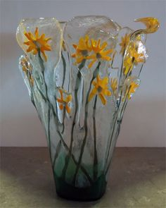 Cathy Cole Daisy Vase @ Lewis Art Gallery
