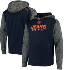 b1ab51167 Chicago Bears NFL Pro Line by Fanatics Branded Static Fleece Pullover Hoodie  - Navy