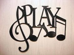 Metal Wall Art Home Decor Play Music Notes