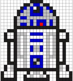 R2D2 Perler Bead Pattern
