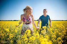 Pre wedding shoot in open field