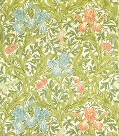 Iris wallpaper, by William Morris (1834-96). Paper. England, late 19th century.