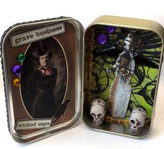 #altered altoid tin by Eileen Wood using #vivalasvegastamps #rubberstamps available @ vlvstamps.com