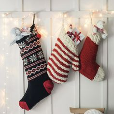 Mitten Hand Knitted Stocking | The White Company