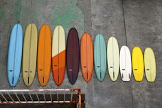 Almond Surfboards - Would love to spend a day riding each and every one of these
