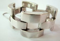 VINTAGE MEXICAN SILVER Modernist Bracelet by TheButterflyBoxdeitz, $175.00