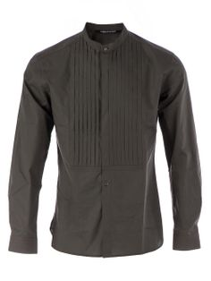 Men - Neil Barrett Mandarin Collar Shirt - L'Eclaireur Shop
