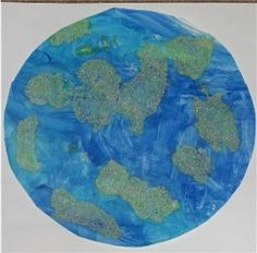 salt painted earth #EarthDay #preschool