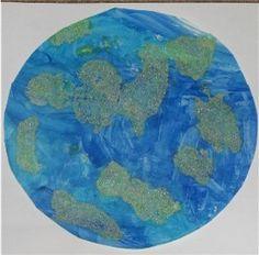 salt painted earth #EarthDay #preschool