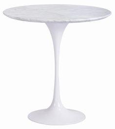 saarinen tulip side table marble