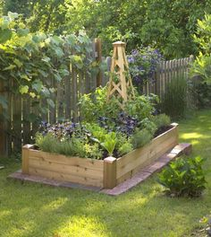 I Love The Landscape Bricks Around The Base. Small Space Gardening: Build A  Tiny Raised Bed