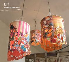 DIY: Flannel Lanterns, @Lauren Quaas this may not end up matching at all, but if you do have flannel (like for Kellen's tie), here's a way to make some lanterns with the fabric too!