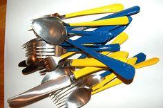 DIY Enamel dipped silverware