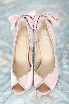 Pretty Pastel Pink...Blushed Bowed Heels...