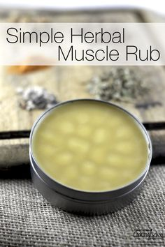 Simple Herbal Muscle Rub | If you're in pain, you want to sooth the ache, right? Do you reach for the tube of muscle rub full of questionable ingredients? Of course not! Here's a simple rub that heals the body with God-given herbs. | TraditionalCookingSchool.com