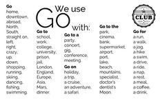 using-go-in-english
