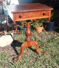 Stickley Pedestal End Table - Cherry Valley Collection