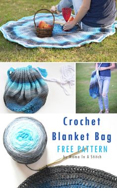 Easy Crochet Projects -Blanket Bag Spring and Summer crochet projects roundup by craft-mart