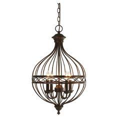 Look what I found on Wayfair! Metal Chandelier, Pendant Lighting, Light Pendant, Candelabra Bulbs, Industrial Farmhouse, Incandescent Bulbs, Bronze Finish, Ceiling Lights, Antiques