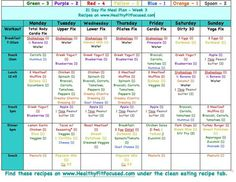 21 Day Fix- Example Meal Plan