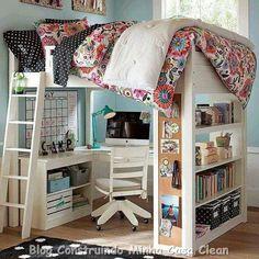 Um sonho de menina moça!   Quarto para adolescentes é um dos ambientes mais difíceis de decorar, pois asadolescentes, além de serem v...
