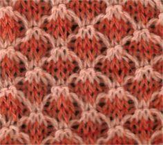 Two-Tone Lattice - Knittingfool Stitch Detail