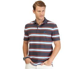 Striped Performance Deck Polo Shirt - Magnet Grey