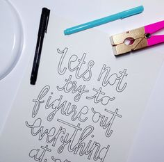 Handlettering by Courtney Shelton #handlettering #typography #graphicdesign