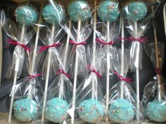 Clearly I need cake pops at my reception.  Maybe as table favors in colors to match the tables?  Or just at the dessert bar.