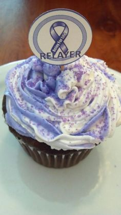 Relay for Life...true hero! *Cute idea for a girl who likes purple. Could do it for a bday party.
