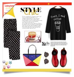 """SheIn"" by sabina-94-cxx ❤ liked on Polyvore featuring Kate Spade, Garance Doré, Dr. Martens, Christian Dior, women's clothing, women, female, woman, misses and juniors"