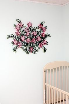 Toilet Paper Roll Wall Art - In a nursery!!! Customize the color and voila!