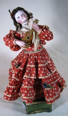 French Jumeau Antique Automaton Large Fashion Type Doll