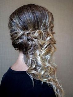 Trendy wedding hairstyles to the side curls bridesmaids updo ideas Prom Hairstyles For Long Hair, Side Hairstyles, Pretty Hairstyles, Wedding Hairstyles, Easy Updos For Medium Hair, Medium Hair Styles, Curly Hair Styles, Wedding Hair And Makeup, Hair Makeup