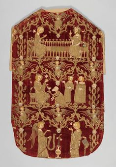 Opus Anglicanum – Decorative Needlework, Lauding the Divine | The Culture Concept Circle Medieval Embroidery, V & A Museum, Medieval Art, Medieval Clothing, Hail Mary, Anglo Saxon, Victoria And Albert Museum, Gothic Art, A Christmas Story