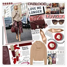 """""""OXBLOOD"""" by rinagq ❤ liked on Polyvore featuring Proenza Schouler, J.W. Anderson, Gianvito Rossi, CÉLINE and iEva"""