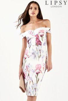 bc33247ad81f Buy Lipsy Floral Bardot Dress from Next United Arab Emirates Floral Bardot  Dress, Lipsy Dresses