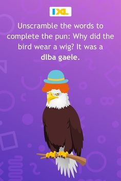 The bird is the word in this week's very punny #WordPuzzle! Sound Words, E Words, Cool Words, Linking Words, Foreign Words, Word Patterns, Spelling Patterns, Rhyming Words, Vocabulary Words