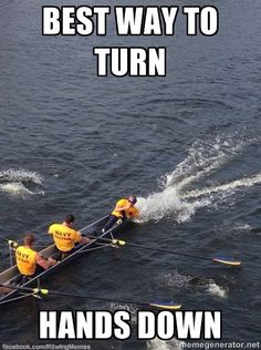 Been there, done that, not cool. #coxswain #crew #rowing